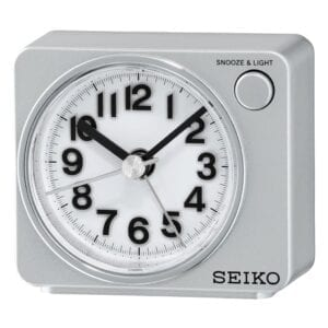 SEIKO ALARM CLOCK 6X7X5CM SWEEP SNOOZE LED LIGHT' Qhe100s 1