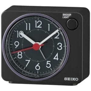SEIKO ALARM CLOCK SWEEP SNOOZE LED FLASHIN Qhe100k